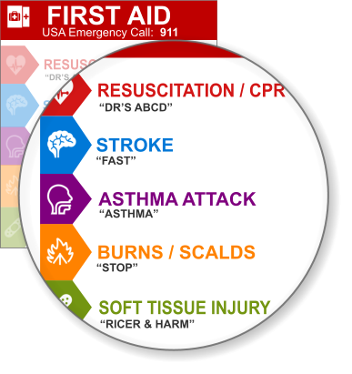 First Aid Guides for OneNote & in PDF Format - Templates for