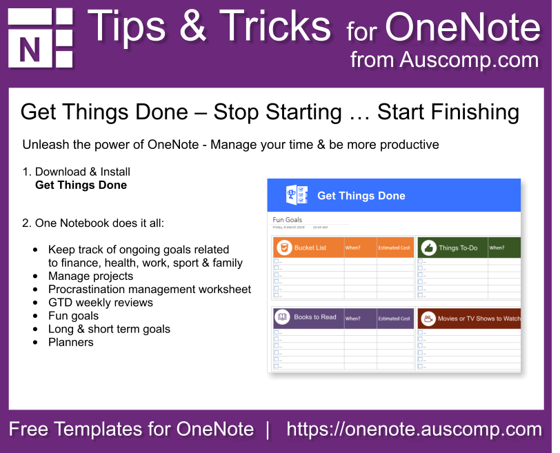 OneNote Tips & Tricks - Templates for OneNote by Auscomp com