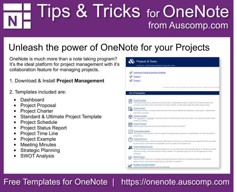 Auscomp Onenote Tips And Tricks Project Management