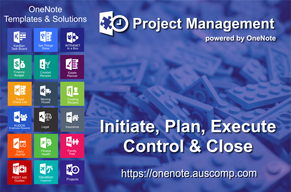 Project Management powered by OneNote - Templates for