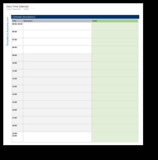 daily time calendar