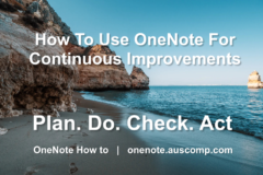 Use OneNote to do a performance review!