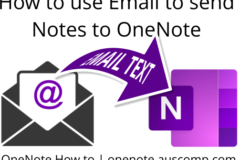 Use email to save notes to OneNote