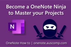 Become a OneNote Ninja to Master your Projects
